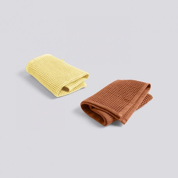 WAFFLE / DISH CLOTH Terracotta and Yellow