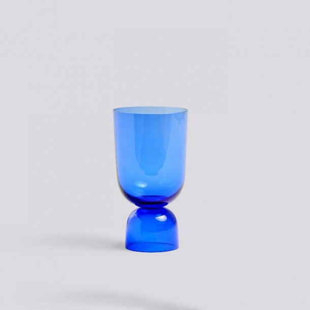BOTTOMS UP VASE Electric blue