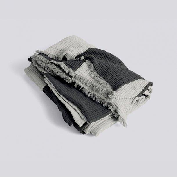 CRINKLE STRIPE PLAID Grey