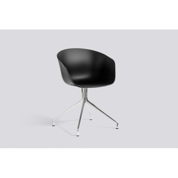 ABOUT A CHAIR / AAC 20 Black seat Polished frame