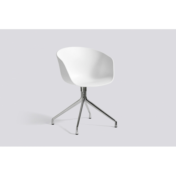 ABOUT A CHAIR / AAC 20 White seat Polished frame