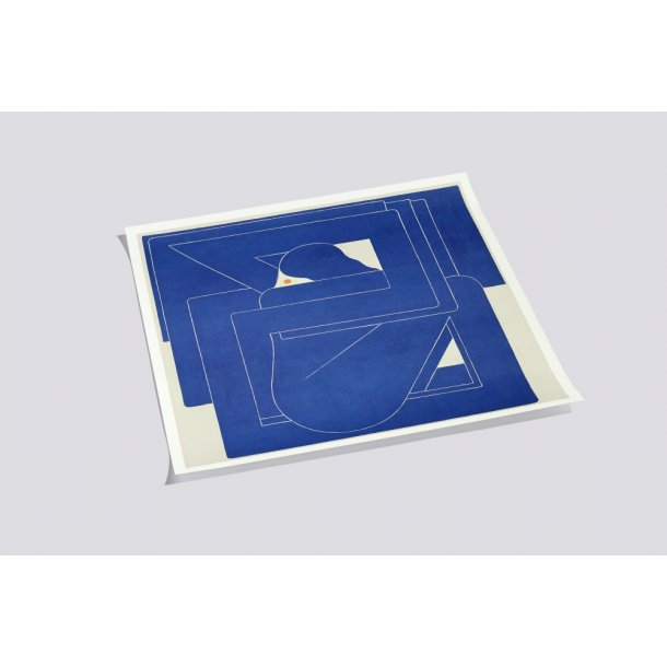 POSTER BLUE SQUARE by Richard Coleman